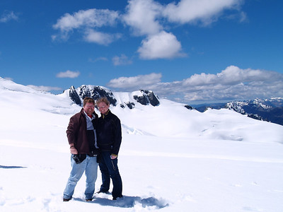 Me and the misses on Mount Tutoko's  glacier
